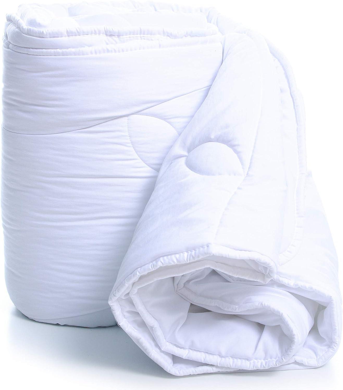 Amazinggirl edredón de Invierno - Manta para Todas Las Estaciones Manta de Verano cálida para Las Personas alérgicas edredon Blanco hipoalergénico Hecho de Microfibra Colcha
