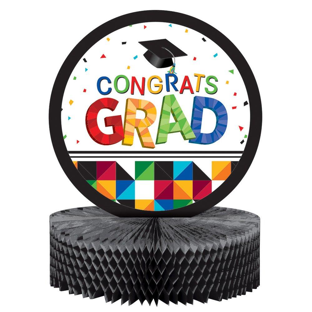 Creative Converting 12 Count Graduation Party Table Centerpiece, Fractal Fun