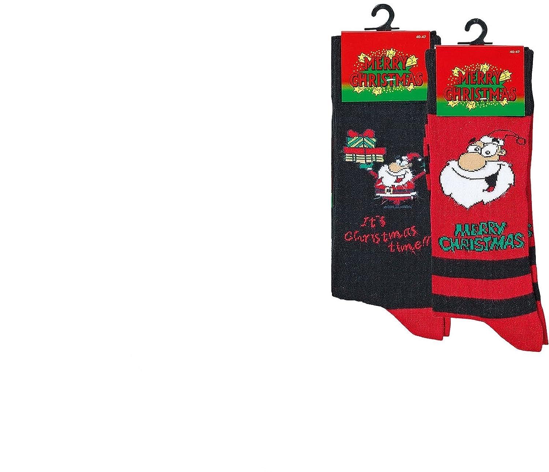 """socksPur 2 PAAR Herren-Lustige Merry Christmas Socken """"Weihnachten ..."""