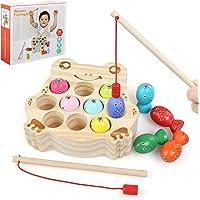 BelleStyle Juguete de Pescar, Juego de Pescar para Niños, Puzzle de Pesca magnetico, Juegos de Mesa de Pesca con 2 Cañas…