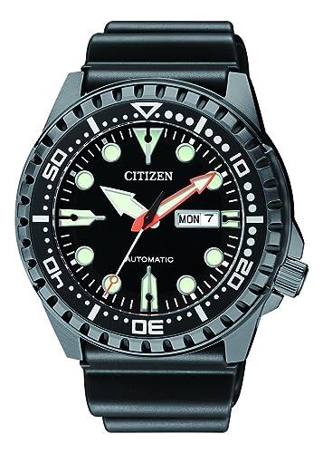 Citizen Hombre Analog Reloj Automático con Caucho Pulsera nh8385 - 11EE: Amazon.es: Relojes