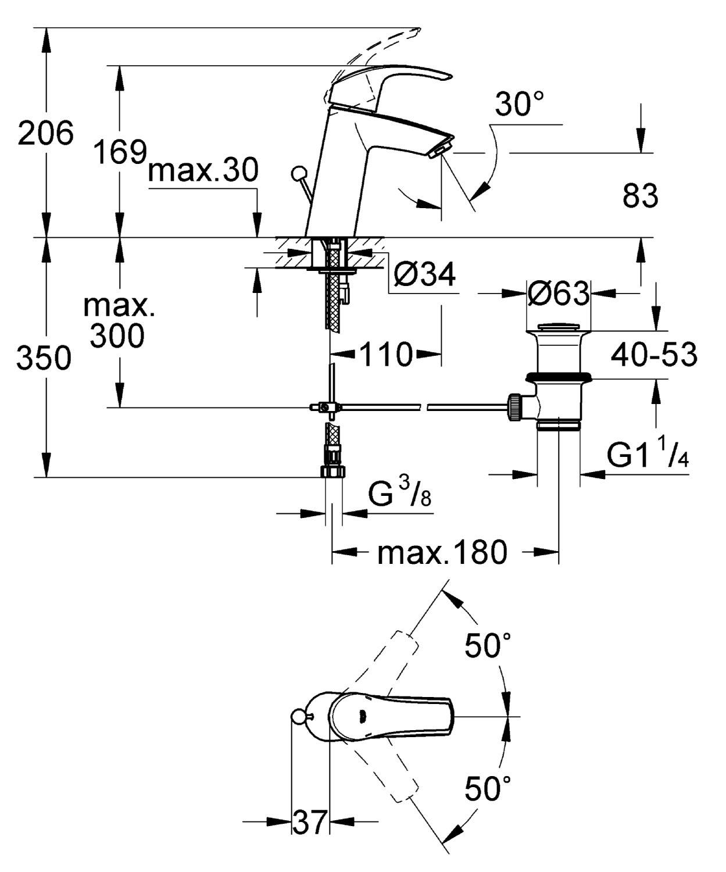 Standard Maße Waschtisch: Ideal standard connect cube waschtisch ... | {Waschbecken maße standard 59}