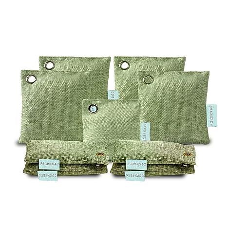 Amazon.com: Bolsas de carbón de bambú activado (paquete de 9 ...