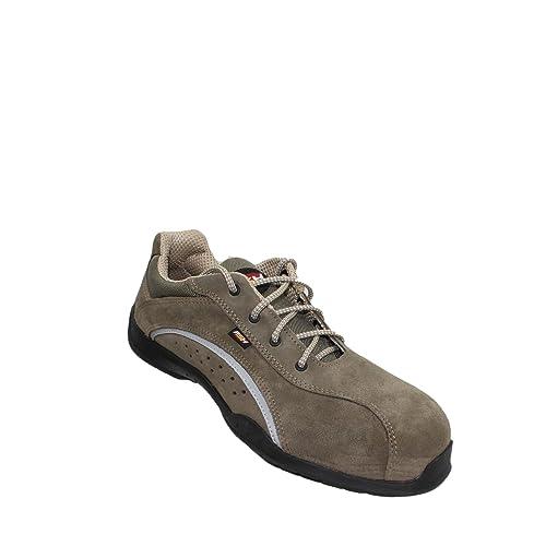 PSH - Calzado de protección de Piel para hombre Marrón marrón: Amazon.es: Zapatos y complementos