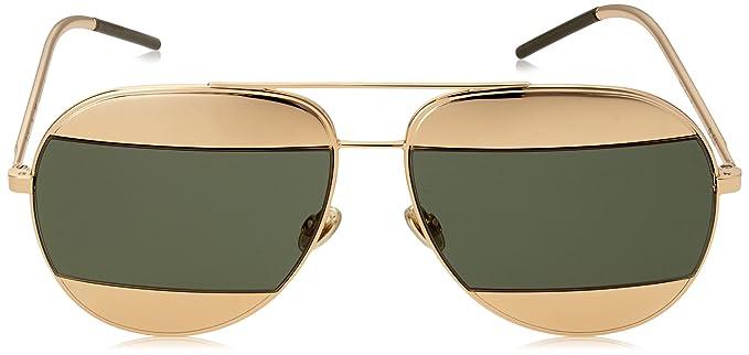 5e505e85813 Amazon.com  Dior Women CD SPLIT1 59 Rose Gold Silver Sunglasses 59mm   Clothing