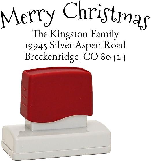 Custom Christmas Return Address stamp Return Address Stamps Christmas Stamps Custom Christmas Stamps Custom Stamp --SI-400RC-Fallons