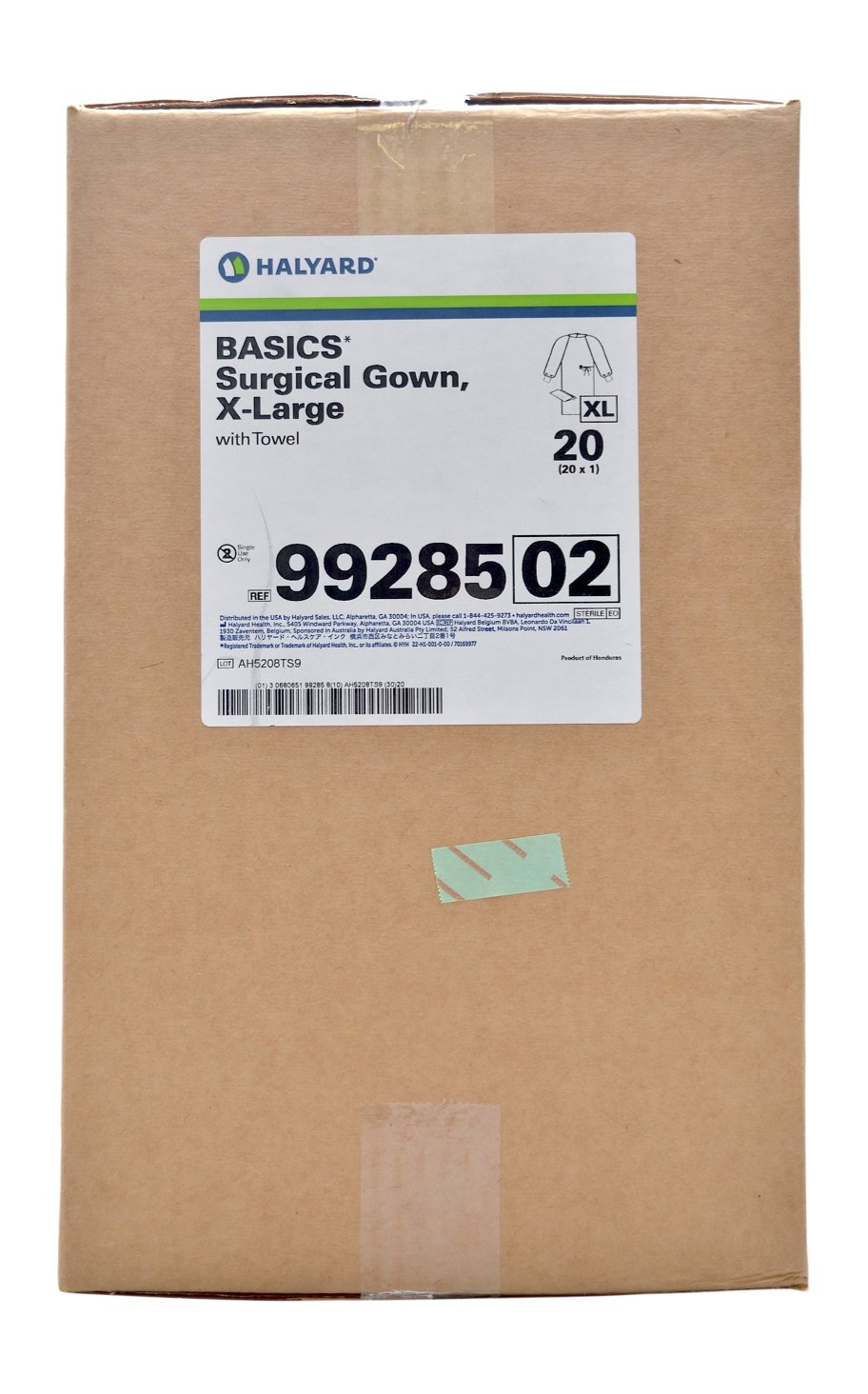 Halyard Health 99285 Basics Non-Reinforced Surgical Gown, X-Large, Sterile, Regular (Case of 20) by Halyard Health (Image #3)
