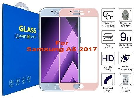 Samsung Galaxy A5 2017 - Curvo 3D Cristal Templado Protector de Pantalla, 3D completo borde