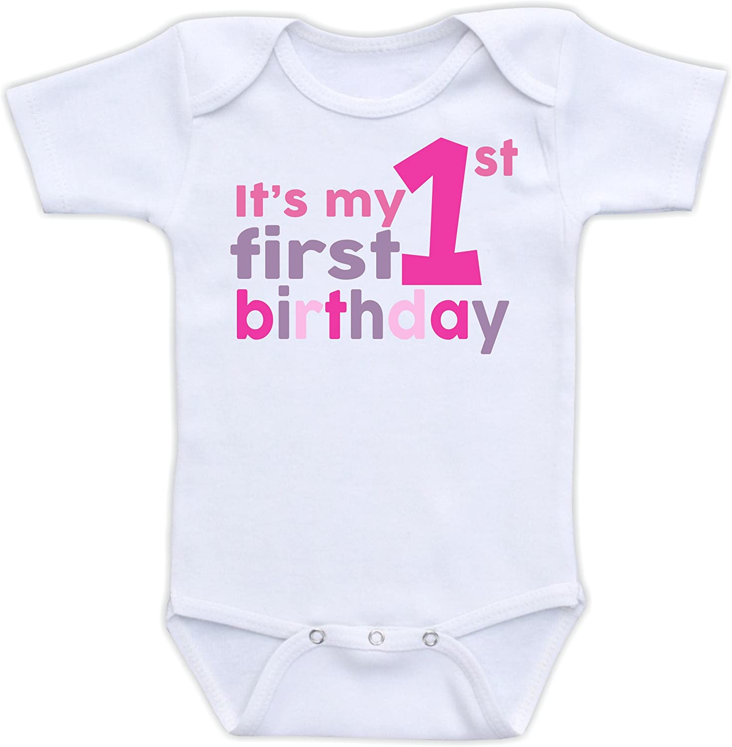 Girls Boys Carters Brand White It/'s My First No.1 Birthday Onesis Size 9M 12M