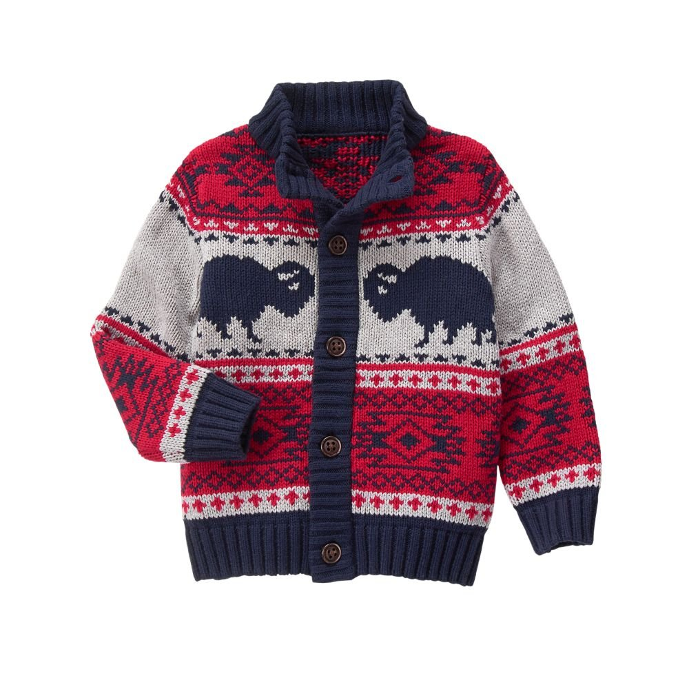 Gymboree Boys' Big Buffalo Cardigan 140162714