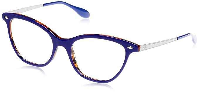 Ray-Ban 0Rx5360, Monturas de Gafas para Mujer, Azul, 52 ...