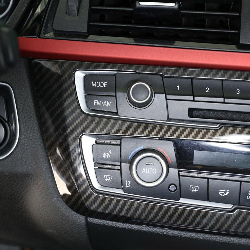 Cadre de d/écoration en plastique ABS style fibre de carbone pour s/érie 3 4 GT F30 F32 F34 2013-2018