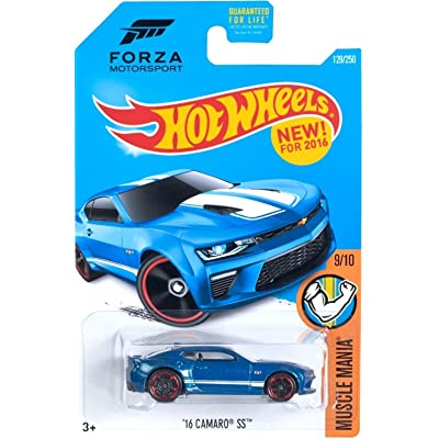 Hot Wheels 2016 Muscle Mania Forza Motorsport '16 Camaro SS 129/250, Blue: Toys & Games