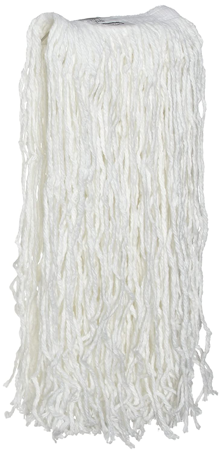 Rubbermaid Commercial FGV15600WH00 Economy Cut-End Cotton Wet Mop Head 5-inch Headband White Rubbermaid Commercial Products 16-ounce