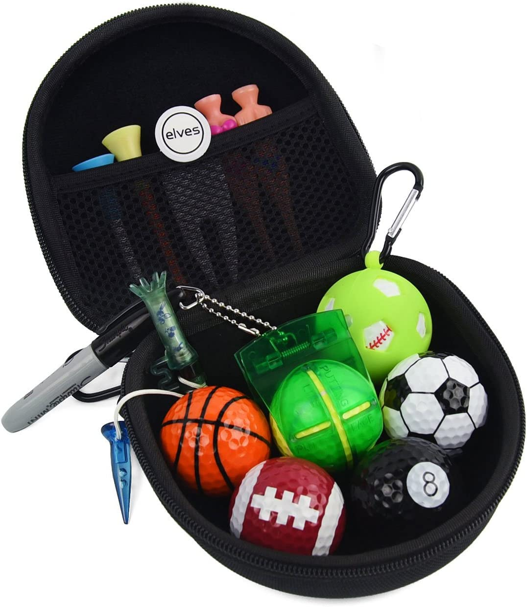 Amazon Com Elves Sports Themed Golf Balls Gift Set With Golf Ball And Golf Accessories Golf Balls Kit With All Necessary Accessories Tools Sports Outdoors