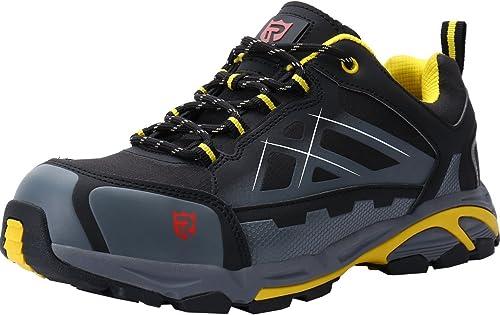 LARNMERN Zapatos de Seguridad con Punta de Acero S3 SRC,LM-201,Hombres