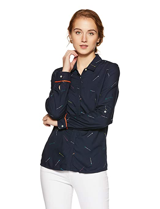 United Colors of Benetton Women's Button Down Shirt Women's Blouses & Shirts at amazon