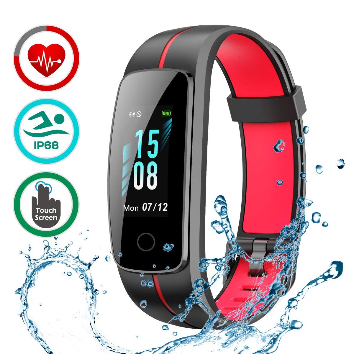... Pulsera de Actividad Inteligente Pantalla Color Reloj con Pulsómetro Impermeable IP68 Podómetroómetro: Amazon.es: Deportes y aire libre