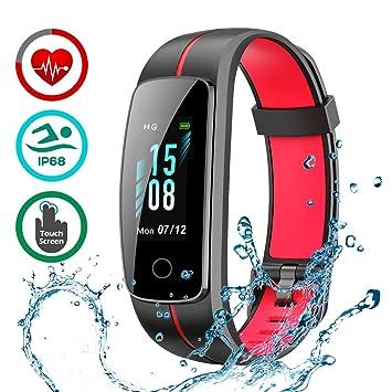 LATEC Pulsera Actividad [Última Versión], Pulsera de Actividad Inteligente Pantalla Color Reloj con Pulsómetro Impermeable IP68 Podómetroómetro: Amazon.es: ...