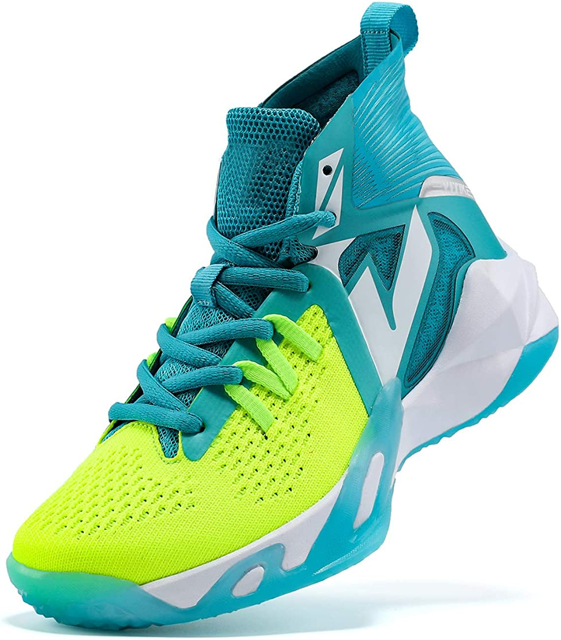   VITUOFLY Kids Basketball Shoes Boys Air Cushion Sneakers Girls Mid Top School Training Shoes Non-Slip Outdoor Sports Shoes Comfortable Boys Running Shoes Durable Little Kid/Big Kid   Basketball