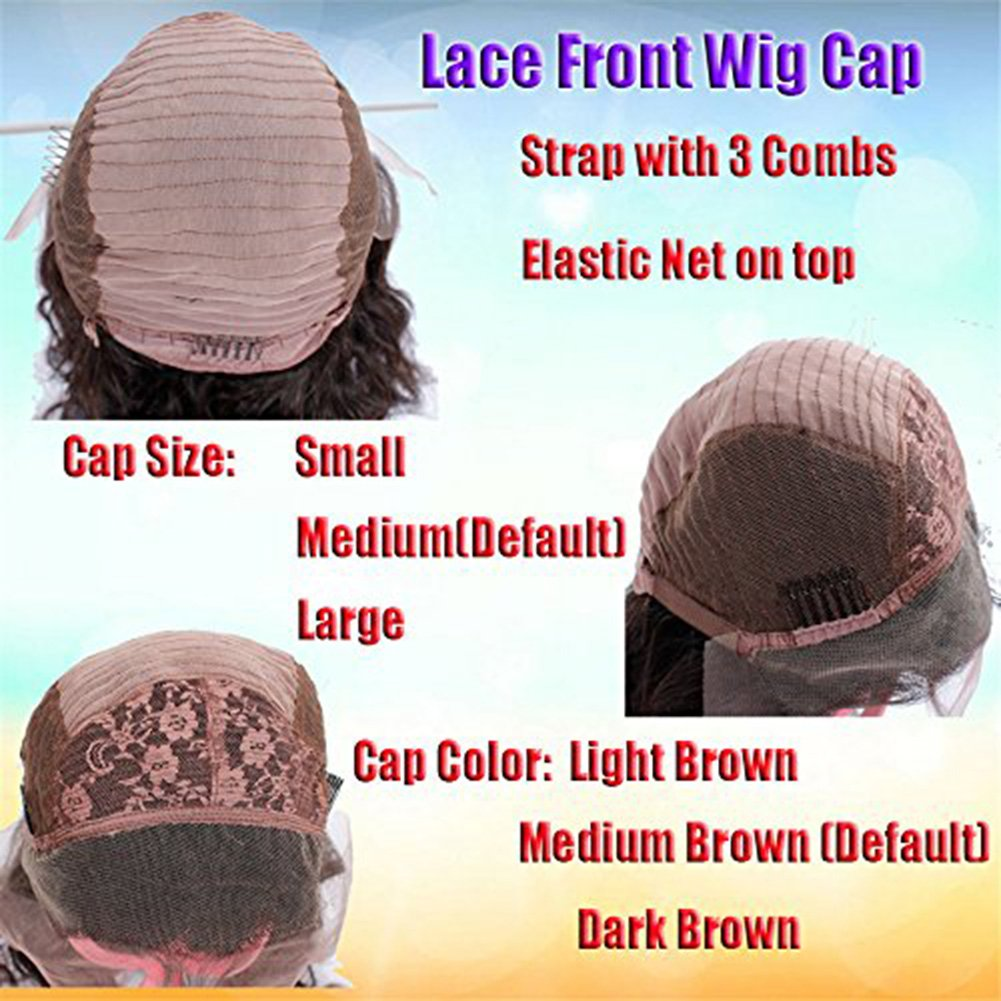 Lace Front Wigs Straight Ombre Blonde Human Hair Wig with Baby Hair for Black Women (14inch, 130% density lace front wig) by KRN (Image #3)