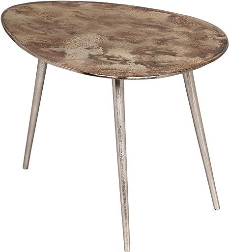 Amazon Com Celeste Industrial Modern Aluminum End Table Antique Nickel Kitchen Dining