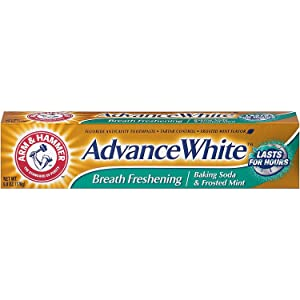 ARM & HAMMER Advance White Baking Soda Toothpaste, Frosted Mint 6 oz (Pack of 7)