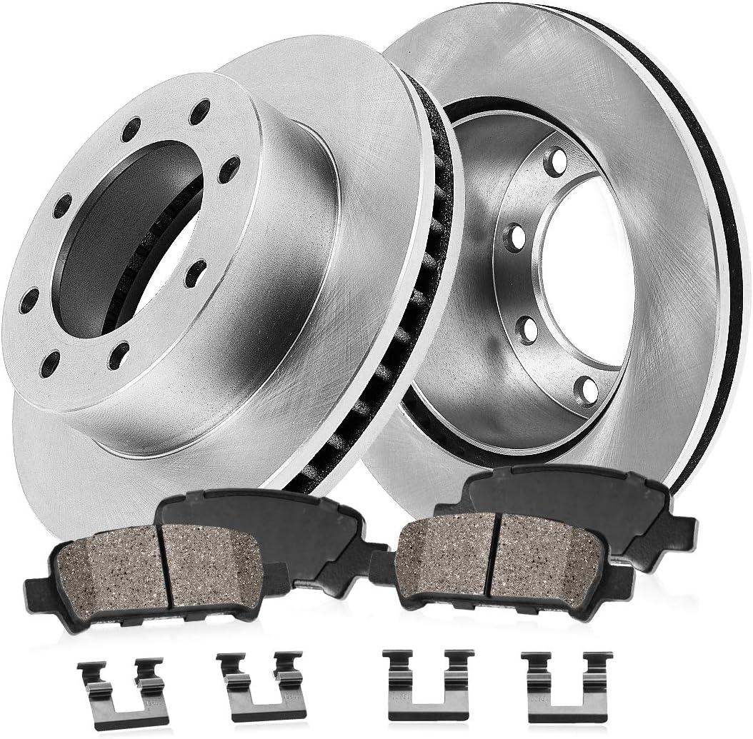 Front 331 mm Brake Disc Rotors Pair For FORD E150 E250 E350 ECONOLINE