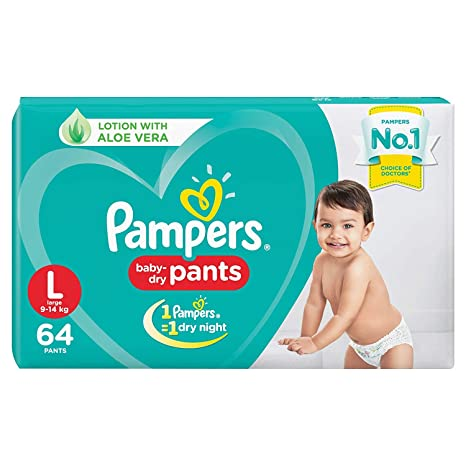 Buy Pampers New Diaper Pants, Large, 64 Count Online at Low Prices
