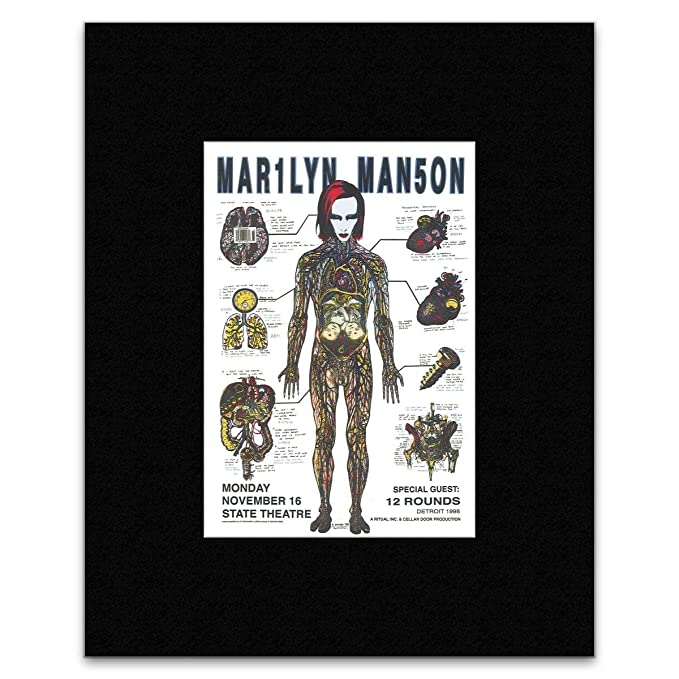 15b1d0f5132 Amazon.com  Stick It On Your Wall MARILYN MANSON - State Theatre Detroit  1998 Mini Poster - 29.5x24cm  Posters   Prints
