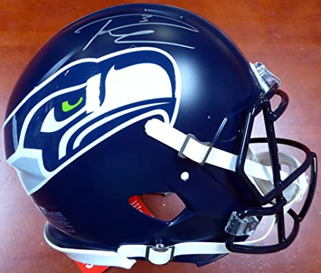 Amazon.com  Russell Wilson Autographed Seattle Seahawks Full Size Speed  Authentic Helmet In Silver RW Holo Stock  113612  Sports Collectibles 52e325fbe