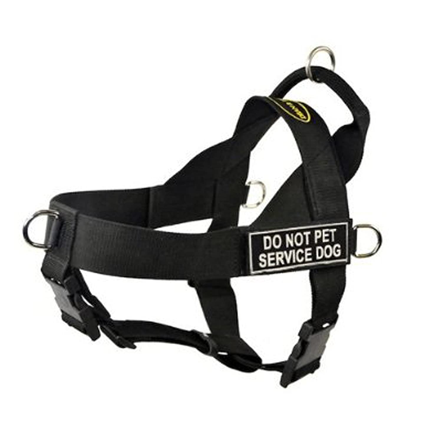 Dean & Tyler Universal No Pull Dog Harness, Do Not Pet Service Dog, Black, Large, Fits Girth Size  79cm to 107cm