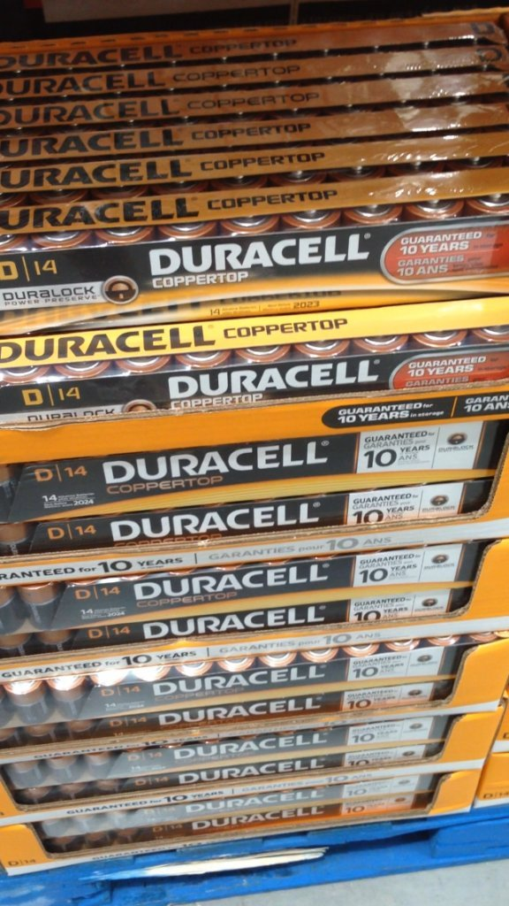 4 Wholesale Lots Duracell Coppertop Alkaline D Batteries, 56 D Batteries Total