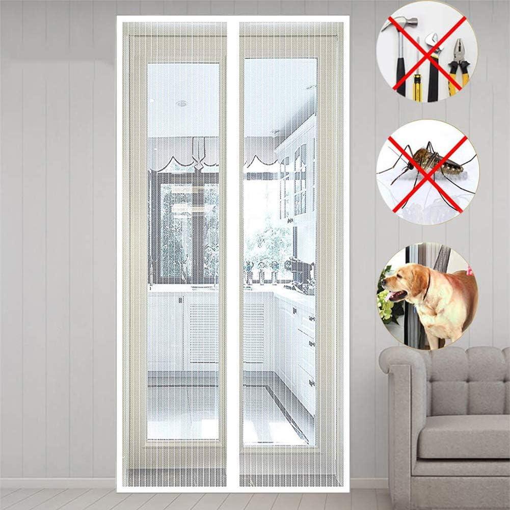 MENGH Mosquitera magnetica Puerta 75x195 CM Mosquitera Magnética para Puertas Cierre automático Adsorción magnética Protección contra Insectos Bueno para Niños y Perros Blanco A: Amazon.es: Hogar