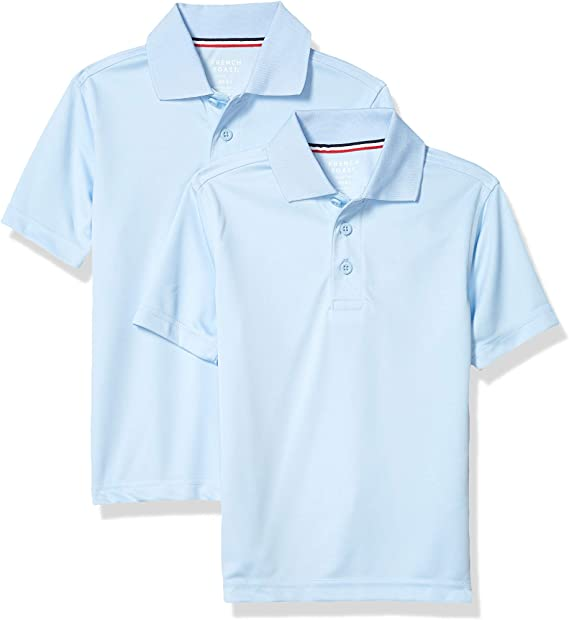 S 6//7 French Toast Boys Short Sleeve Polo Navy 2 Pack