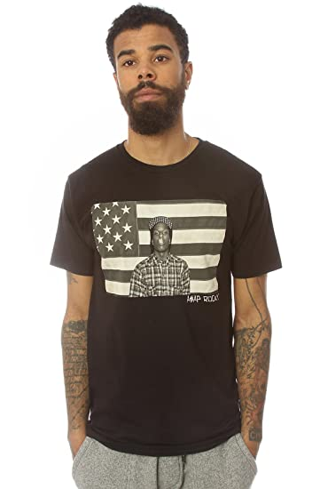 bd0cddff17 Amazon.com  ASAP Rocky Men s ASVP Flag Tee Extra Extra Large Black  Clothing
