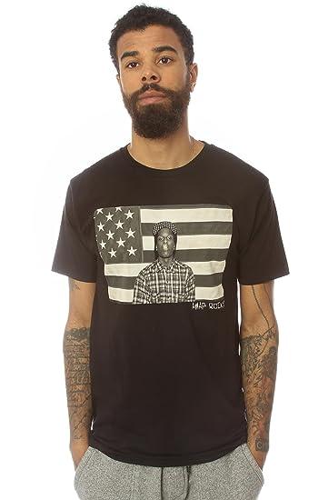 Amazon.com  ASAP Rocky Men s ASVP Flag Tee Extra Extra Large Black  Clothing 8f2ae7497