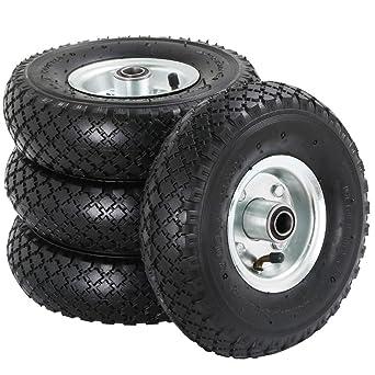 Jeune Yaheetech Lot de 4pcs Roue gonflable roue pneumatique remorque HG-93