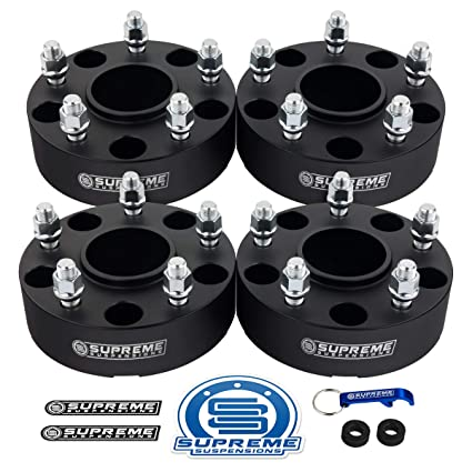 Supreme Suspensions 4pc 2002 2011 Dodge Ram 1500 2 Hub Centric Wheel Spacers 5x5 5 With Lip 9 16 X18 Studs Black