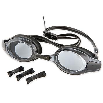 Lunettes de natation de qualité avec verres optiques pour adultes, noir,  revêtement anti- 3103c5613471