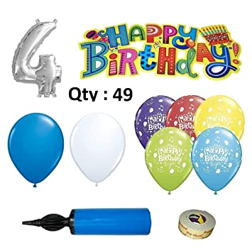 4th Birthday Decoration For Boys Kit