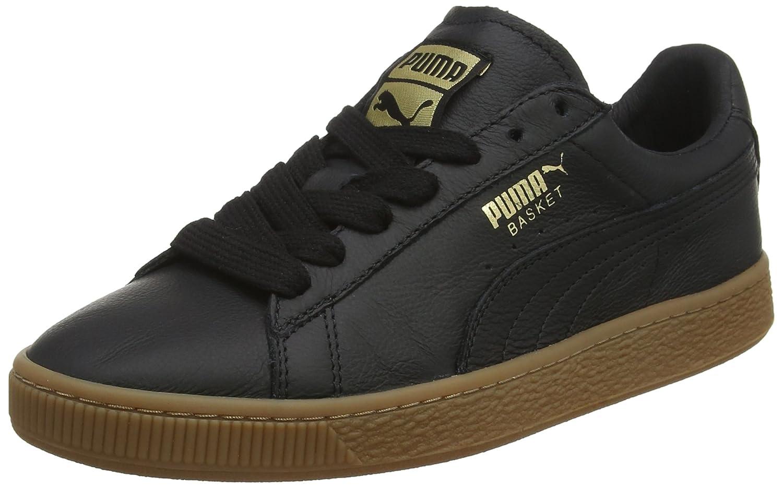 Puma Basket Classic Gum Deluxe, Zapatillas Unisex Adulto 40.5 EU|Negro (Puma Black-metallic Gold 01)