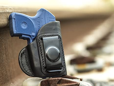 OUTBAGS USA LS4LCPX Full Grain Heavy Leather IWB Conceal Carry Gun Holster  for Ruger LCP 380 with Crimson Trace Laser  Handcrafted in USA