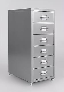 Rollcontainer metall ikea  vidaXL Metall Rollcontainer Bürocontainer Büroschrank ...