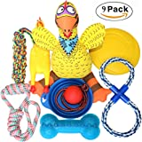 Jomilly Dog Toys GIft Set 9 and 12 Pack, Puppy Plush Toys Ball Rope Chew Pet Teething Toy For Doggies