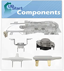 8544771, 8577274, 279973 & 3392519 Dryer Heating Element and Thermostat Kit Replacement for Whirlpool WED9550WW2 - Compatible Heater Element, Thermistor, Thermal Cut-Off Kit & Thermal Fuse Kit