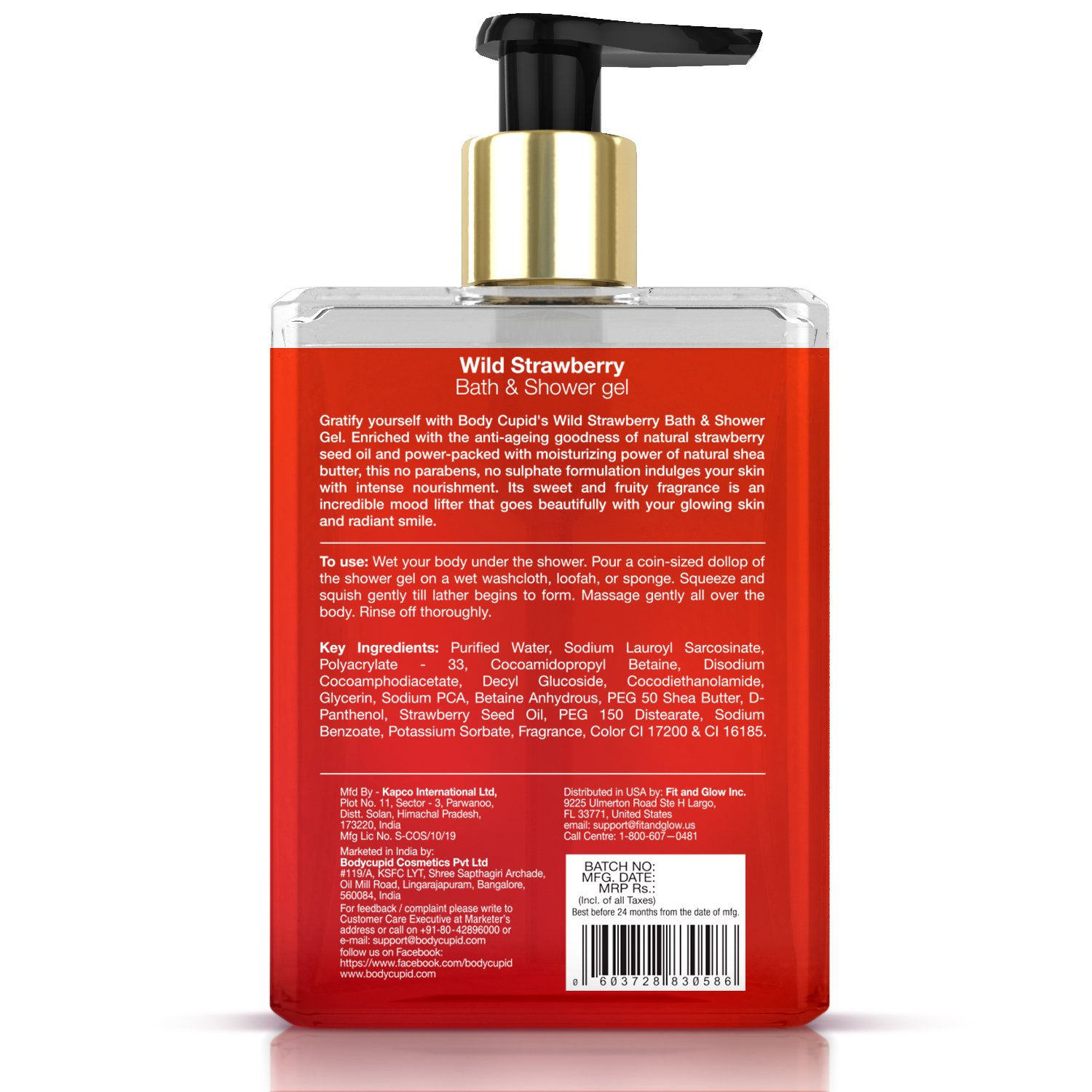 Buy Body Cupid Wild Strawberry No Parabens Sulphates Shower Gel 400mL Online At Low Prices In India
