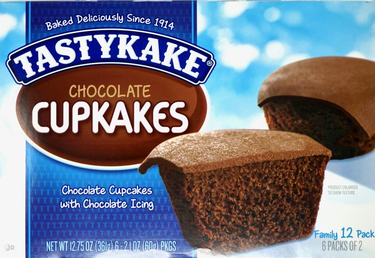 (2) Tastykake Chocolate Cup Cakes Family Packs