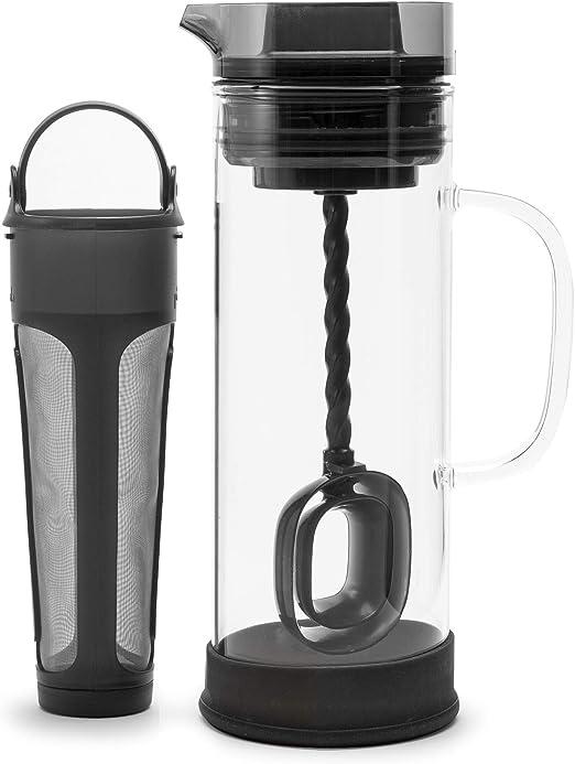 Primula Cold Brew – Cafetera eléctrica de cristal borosilicato, jarra de vidrio y malla de acero inoxidable Core – apta para lavavajillas – 50 ml [1,5 qt.] – Smokey gris: Amazon.es: Hogar