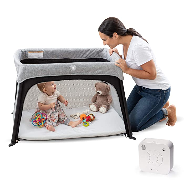 Lumiere,All-in-One Lightweight Travel Crib and Bassinet for Baby and Toddler